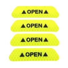 4 шт. Универсальная автомобильная дверь светоотражающая лента открытый знак Предупреждение отметка наклейка