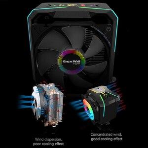 Image 4 - مبرد وحدة المعالجة المركزية للجدار العظيم RGB 90 مللي متر PWM مروحة التبريد إنتل LGA1150 1151 1155 1156 775 AMD AM3 AM4 برودة RGB وحدة المعالجة المركزية برودة للكمبيوتر