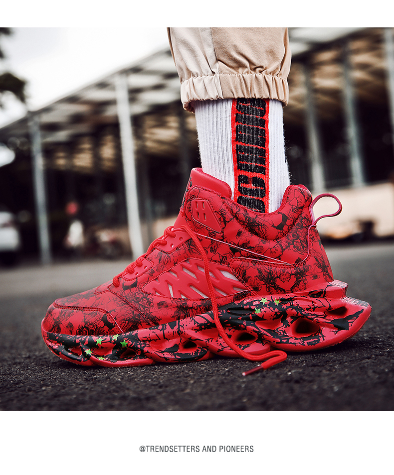H2721ed691a0040f6bf6b99ff1e2c2666v Fashion Men's Hip Hop Street Dance Shoes Graffiti High Top Chunky Sneakers Autumn Summer Casual Mesh Shoes Boys Zapatos Hombre
