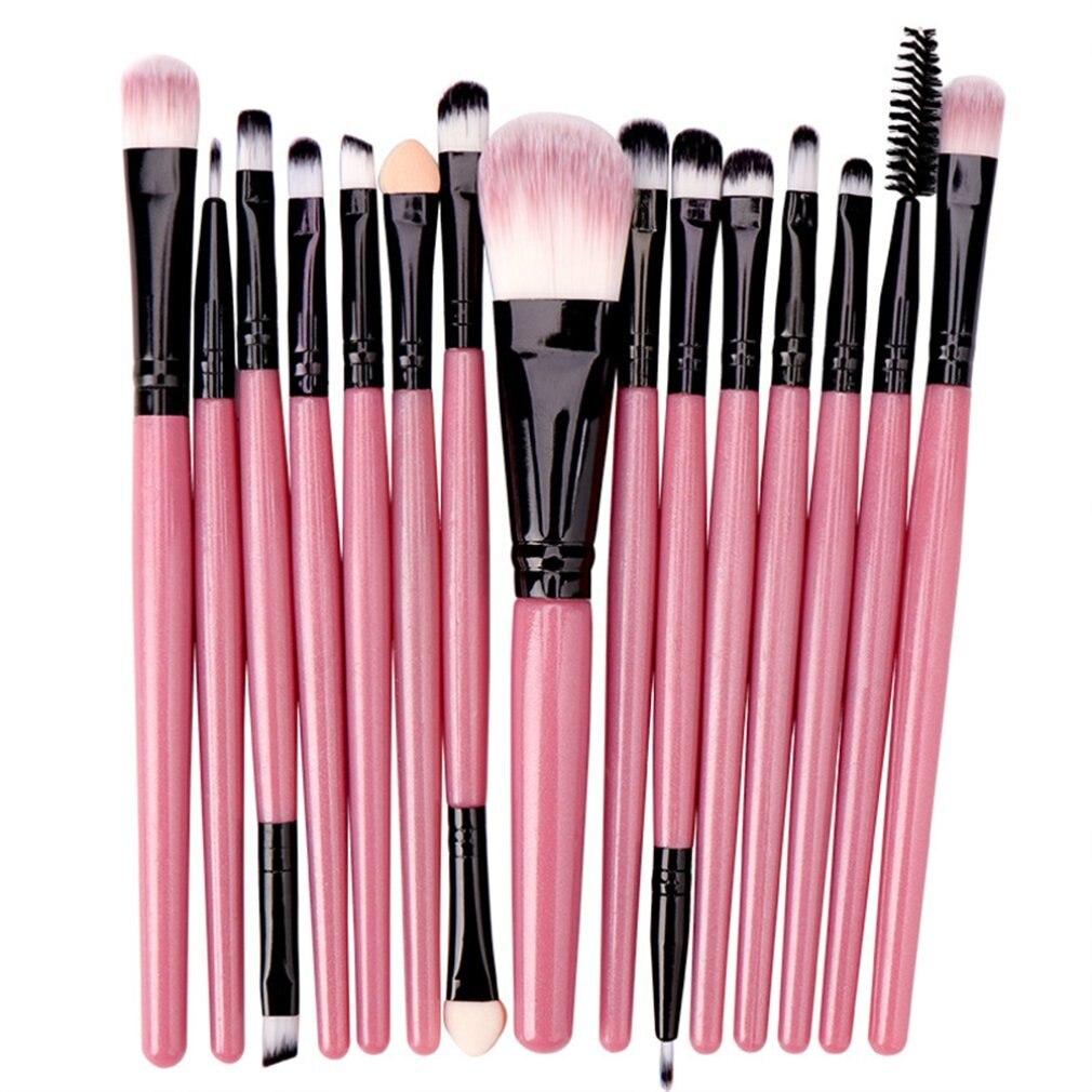 Набор модных кистей для макияжа, 15 шт., кисти для теней для век, инструменты для красоты, изысканная Кисть для макияжа глаз, палитра для макия...