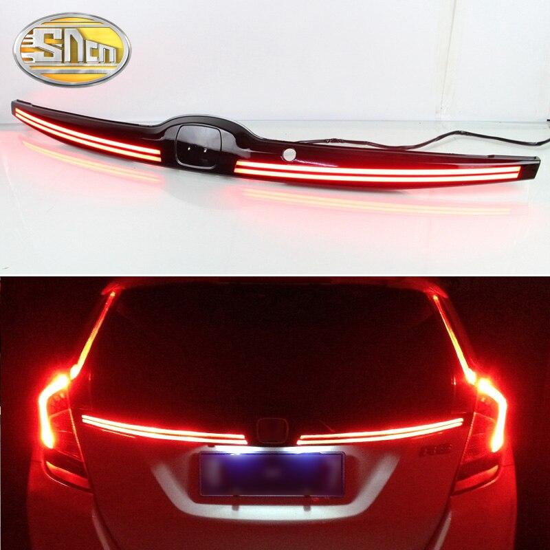 LED Rear Trunk Lights For Honda Jazz Fit 2014~2018 Driving Light + Brake Light + Moving Turn Signal Lamp