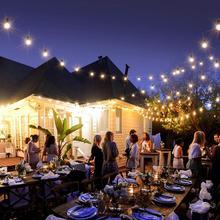 מחרוזת אורות G40 פטיו אורות מקורה חיצוני מסחרי דקור 25Ft עם 25 נורות חיצוני עבור מסיבת גן