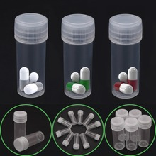 Sample Bottle Vials Storage-Containers Test-Tube Plastic Translucent 5ml for Home Office