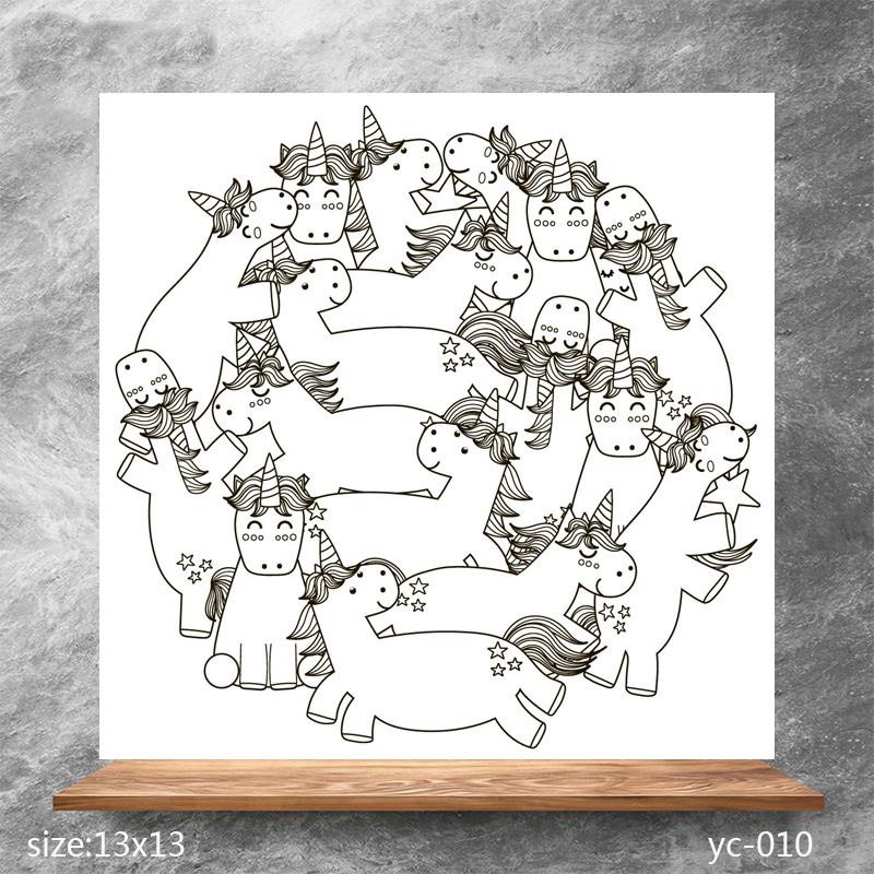 ZhuoAng Cute unicorn Clear Stamps/Silicone Transparent Seals for DIY scrapbooking photo album Stamps