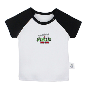 Bah Humbug A Sour Christmas I Hate Winter Design Newborn Baby T-shirts Toddler Graphic Raglan Color Short Sleeve Tee Tops image