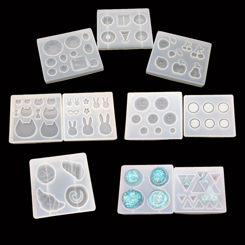PopularKinds Of Beatiful Shaped Molds For DIY Handmade Jewelry Necklace Earring UV Resin Mold Diried Flower Tools