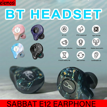 Sabbat E12 Ultra Qualcomm Apt-X True Wireless Bluetooth Headset IPX5 Waterproof Wireless Headphone Siri HiFi For Iphone Xiaomi