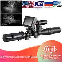 850nm infrarrojos LED IR visión nocturna dispositivo mira cámaras al aire libre 0130 resistente al agua vida silvestre trampa cámaras A