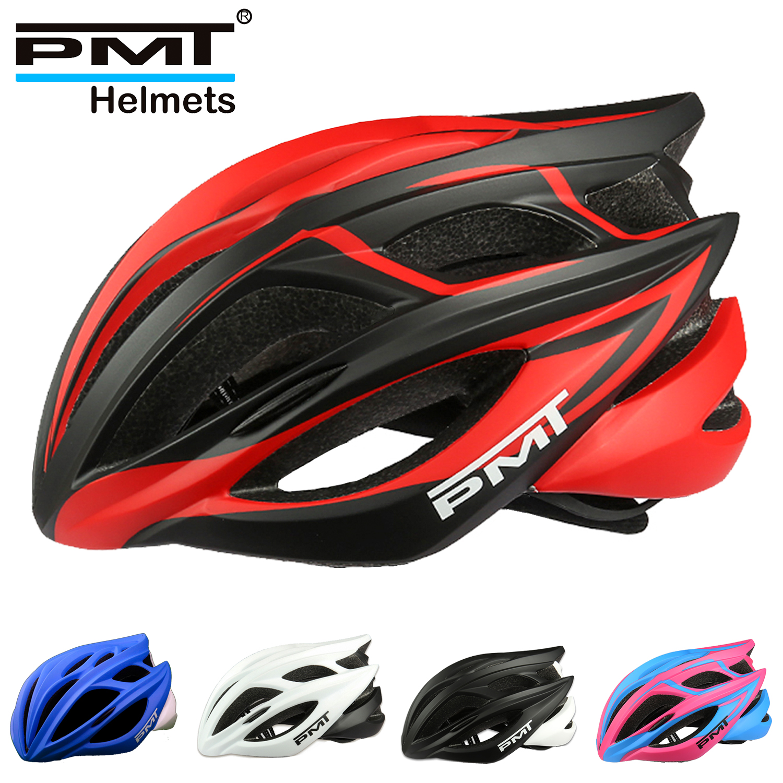 PMT bisiklet Ultralight kask nefes yol bisiklet kaskı entegral kalıplı erkekler ve kadınlar fietshelmen kask bisiklet güvenle kap