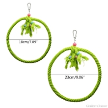 Pet Parrot Birds Cage Toy Cotton Rope Circle Ring Stand Chewing Bite Hanging Swing  Cockatiel Para Climbing D22 20 Dropshipping