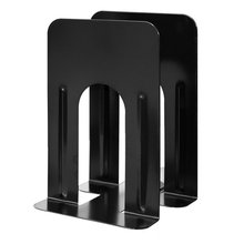 Genuine 1 Pair  Metal Book Stand  Cheap Durable Heavy Duty Metal Book End Shelf Bookend Holder For Office School Supplies
