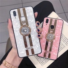 Luxe Silicon Gitter Case Met Ring Stand Vinger Houder Voor Iphone 11 11pro X Xr Xs Max 8 7 Plus droom Shell Patroon Case(China)