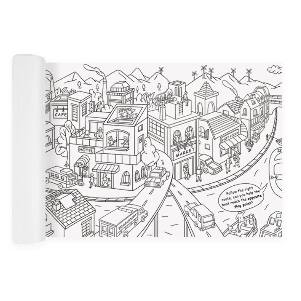 US $13 07 OFF 10M Besar Mewarnai Poster Super Pelukis Kertas Gambar Raksasa Meja Kertas Papan Doodle Mainan Kertas Anak Laki Laki Anak Perempuan