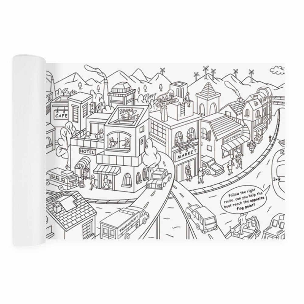 - 10M Large Coloring Poster Kids Super Painter Drawing Paper Giant