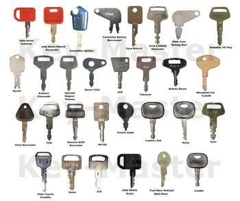 30 ciężki sprzęt budowlany kluczyk zapłonowy zestaw dla kota Kubota JD JCB Komatsu Bomag Kubota TCM Case-Bobcat tanie i dobre opinie annhoo CN (pochodzenie) 5p8500 t800 430 ng100 K250 9901 T250 166