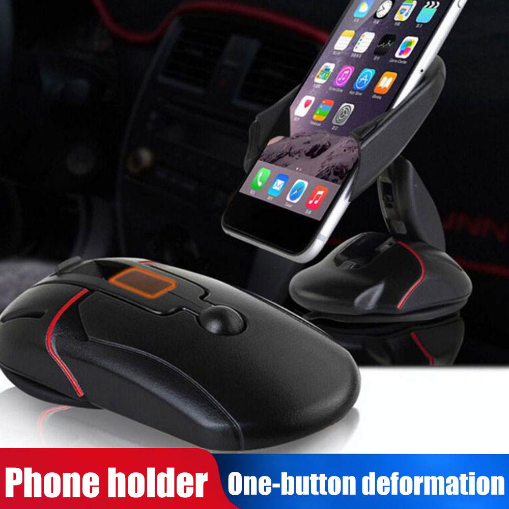 Mouse Design Creative Car Phone Bracket One-Button Deformation Dashboard Stand Desktop GPS Mount Phone Stand Vehicle Officel