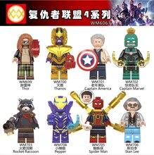 WM6061 Super Heroes Avenger Endgame Thanos Captain America Rescue Pepper Rocket Raccoon Building Blocks Children Toys