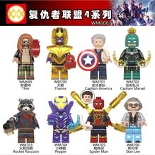 WM6061 Super Heroes Avenger Endgame Thanos Captain America Captain Rescue Pepper Rocket Raccoon Building Blocks Children Toys hotsale chinese ginseng extract 80% ginsenosides 500mg x 200capsule improve energy