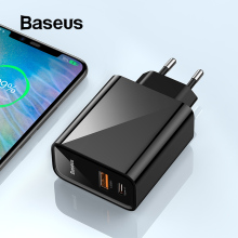 Baseus Quick Charge 4,0 3,0 USB Зарядное устройство Портативный 5A для huawei 30 Вт QC 4,0 3,0 Quick Зарядное устройство PD 3,0 быстро Зарядное устр