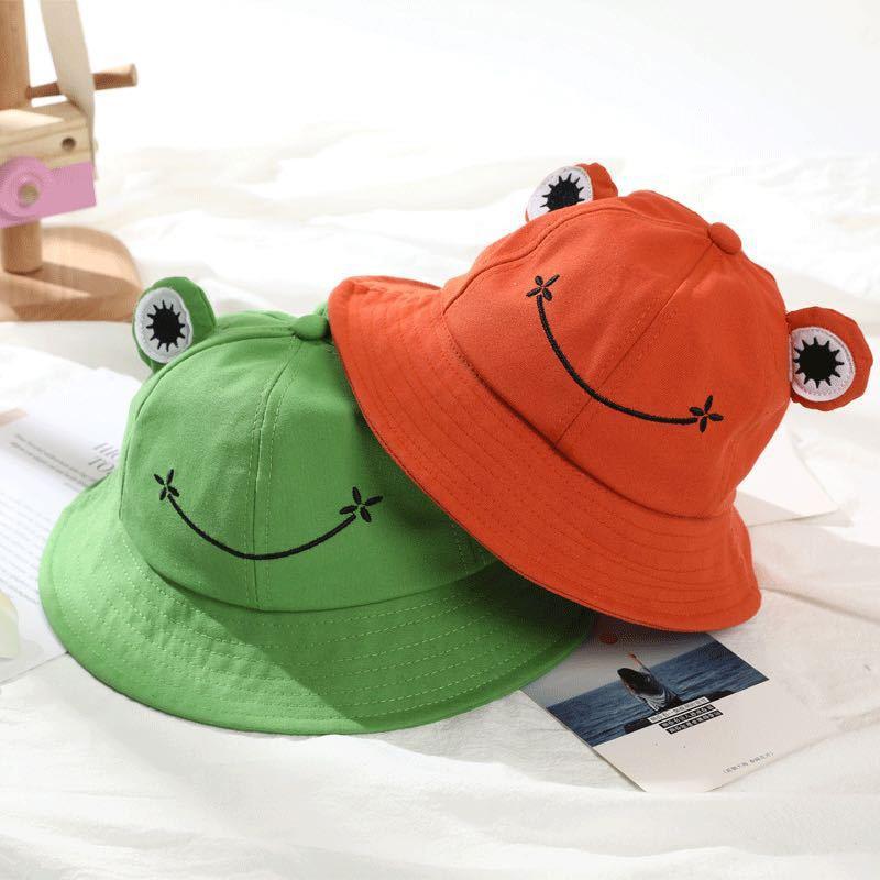 Стильная футболка с изображением персонажей видеоигр лягушка ведро шапки для детей на осень-зиму; Сезон: весна-лето для мальчиков и девочек,...