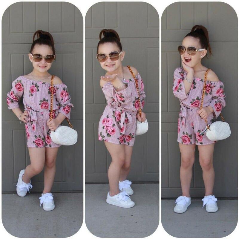 Kids Baby Girl Romper Floral Bodysuit Jumpsuit Sunsuit Summer Outfits Clothes