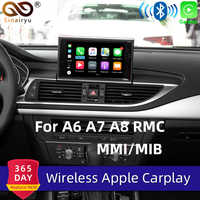 Sinairyu WiFi inalámbrico de Apple CarPlay para Audi A6 C7 2012-2017 MMI RMC pequeña de 6,5 7 Pantalla OEM Retrofit CÁMARA DE APOYO inverso