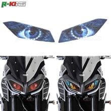 Для Yamaha MT-09 MT09 MT 09 2017 фара мотоцикла стикеры гвардии головного света наклейки защитная пленка для украшения