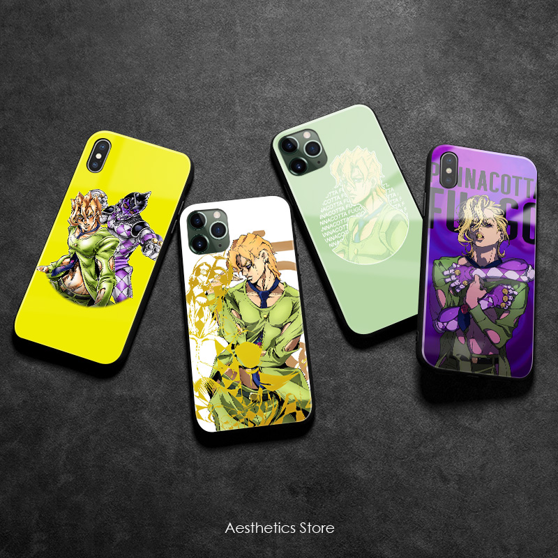 Pannacotta Fugo JOJO Part 5 Vento Aureo Soft Silicone Glass Phone Case Cover Shell for iPhone 6 6s 7 8 Plus X XR XS 11 Pro Max image