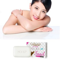 Milk rich solid cleansing stick and snails protein essence cleansing soap, prevent acne, remove mites, whitening and shiny skin