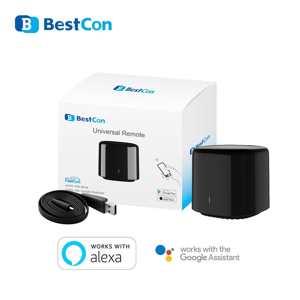 Купить с кэшбэком Broadlink Bestcon RM4C Mini Smart Home WiFi IR Remote Controller Compatible with Alexa amazon Google Home Automation Modules
