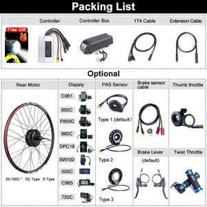 Image 5 - Bafang 48V 500W Brushless Gear Hub Motor E bike Motor G020.500 Rear Wheel Drive Electric Bike Conversion Kit Bicycle for Adult