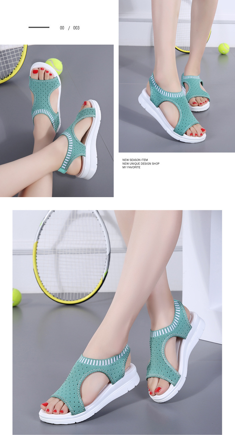 H27242765e8214463bc09eba457943f6dj WDZKN 2019 Sandals Women Summer Shoes Peep Toe Casual Flat Sandals Ladies Breathable Air Mesh Women Platform Sandals Sandalias