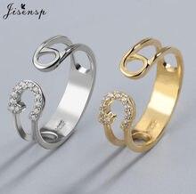 Bague Unique en cristal géométrique pour femmes, anneau en Zircon cubique, réglage pavé, accessoire de fête
