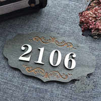 Wooden Home Apartment Door Number Plate Custom Signs Sticker Homes Letters Apartment House Hotel Villa Hotel Room Number