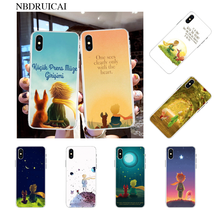 NBDRUICAI little prince and the fox Soft Silicone Black Phone Case for iPhone 11 pro XS MAX 8 7 6 6S Plus X 5S SE XR case nbdruicai black women art and little girl fashion phone case cover for iphone 11 pro xs max 8 7 6 6s plus x 5 5s se xr case