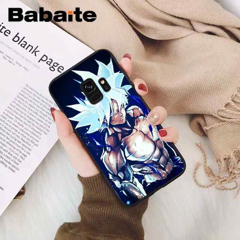 Babaite Bola de Dragón Saiyan Goku Vegetto Broly negro TPU cubierta suave del teléfono para Samsung Galaxy S9 Plus S3 S6 7 8 9 S10 E S9 móvil