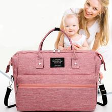 Torba na pieluchy dla niemowląt torba na pieluchy torba dla mamy wodoodporna torba podróżna torba na pieluchy dla niemowląt torby na pieluchy dla mamy wózek mama różowy macierzyńskiego torby na ramię tanie tanio Hobos CN (pochodzenie) Poliester zipper (30 cm Max Długość 50 cm) 19cm 4008 Nappy Bag 39cm 0 6kg 29cm Stałe