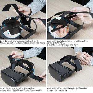 Image 2 - Oculus Quest Stirnband strap mit 1 Paar Knuckle Strap für Oculus Quest Virtuelle Controller Zubehör