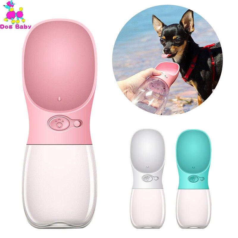 350ML 500ML Portable Pet Dog Water Bottle Travel Puppy Cat Drink Bowl Outdoor Outside Pet Feeder Dispensador Agua Perro