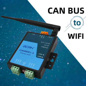 Wifi to CAN converter can be used as wireless CAN bus repeater with software and technology ,support three working mode. can network expansion can isolation repeater series 2 galvanic isolation can bus interface
