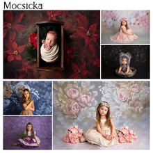 Flower Children Birthday Photography Backdrop Floral Texture Portrait Background Photo Shoot Oil Painting Hand Painted Photocall