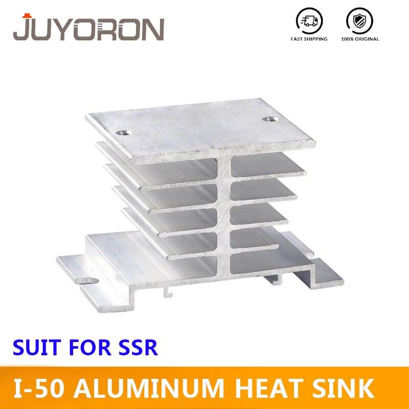 Однофазный алюминиевый радиатор рассеивания тепла I-50 Din рейку с для 10А 25А 40А твердотельные реле SSR