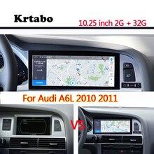 راديو السيارة أندرويد مشغل وسائط متعددة لأودي A6L 2010 2011 2012 10.25 بوصة تعمل باللمس نظام تحديد المواقع Carplay
