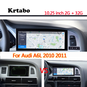 Image 1 - Car radio Android multimedia player for Audi  A6L 2010 2011 2012 10.25inch touch screen GPS Carplay