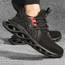 Steel Toe Shoes Men Women Piercing-proof Lightweight Breathable Work Safe Shoes EDF88