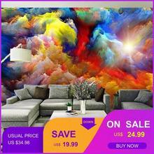 3D фото обои 3D Европейская Абстрактная живопись диван тв K ТВ Гостиная Бар фон цветные Обои фреска