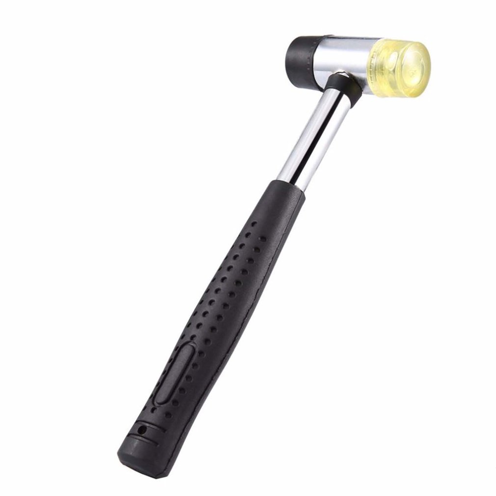 Резиновый молоток установки инструмента износостойкая Нескользящая Установка инструменты Сталь ручка с двойной головкой 300/500/750/1000g по доступной цене