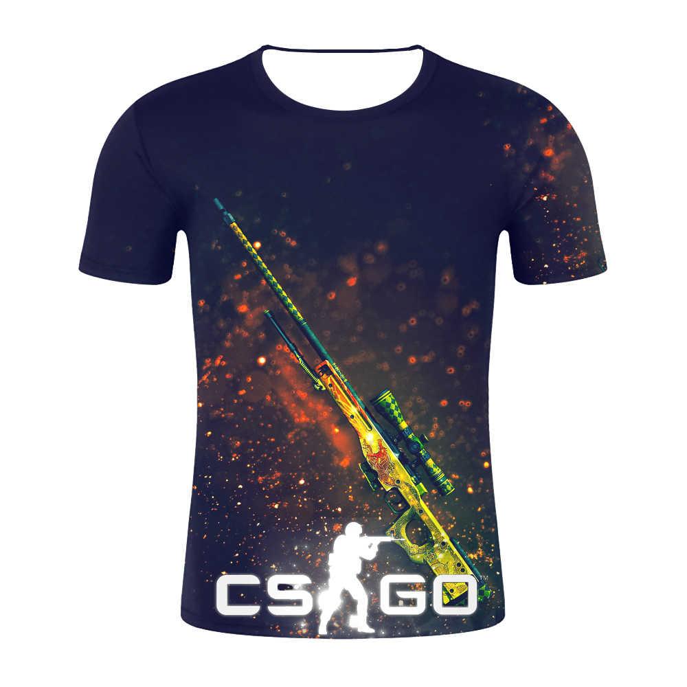 2019 moda męska o-neck top lato na co dzień 3D t-shirt CS GO boutique drukuj krótki rękaw koszulka kompresyjna koszulka na zamówienie