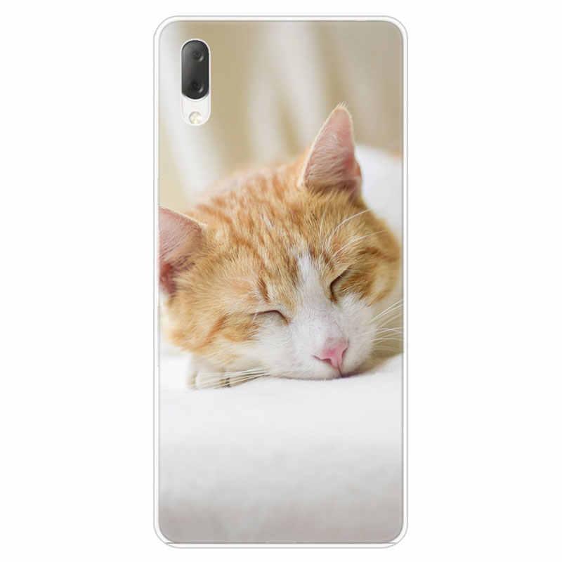 Sleeping Kitten Cat Hard Case For Sony Xperia L1 L2 L3 X XA XA1 XA2 Ultra E5 XZ XZ1 XZ2 Compact XZ3 M4 Aqua Z3 Z5 Premium Cover