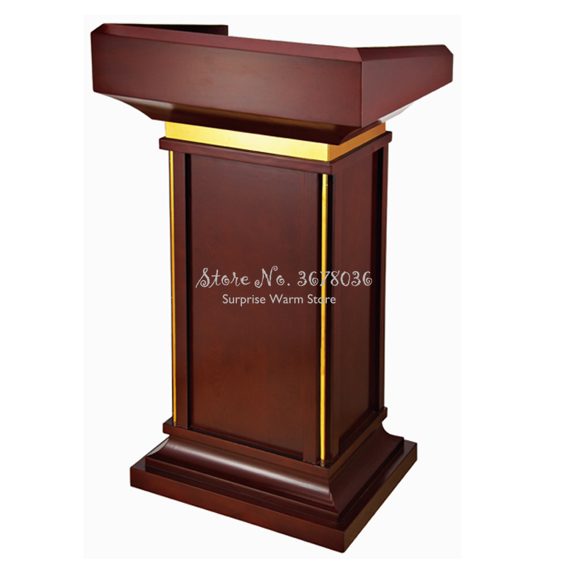 High Quality Solid Wood Podium European-style Podium Table Welcome Desk Reception Desk Counter Host
